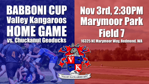 Valley Kangaroos vs Chuckanut Geoducks @ Pat Ryan Field | Seattle | Washington | United States
