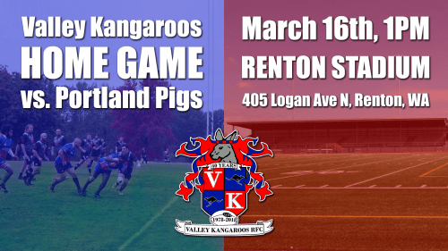 Valley Kangaroos vs Portland Pigs @ Pat Ryan Field | Seattle | Washington | United States