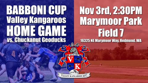 Valley Kangaroos vs Chuckanut Geoducks @ Marymoor Park (Field 7)   Seattle   Washington   United States