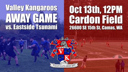 Valley Kangaroos vs Eastside Tsunami @ Cardon Field | Camas | Washington | United States
