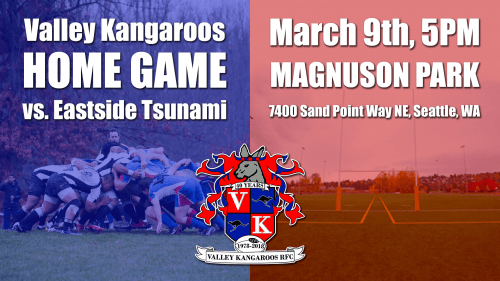 Valley Kangaroos vs Eastside Tsunami @ Pat Ryan Field | Seattle | Washington | United States