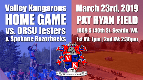 Valley Kangaroos vs ORSU Jesters & Spokane Razorbacks @ Pat Ryan Field | Seattle | Washington | United States