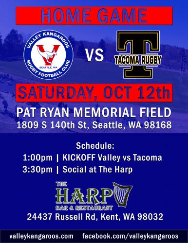 HOME vs Tacoma Nomads @ Pat Ryan Field